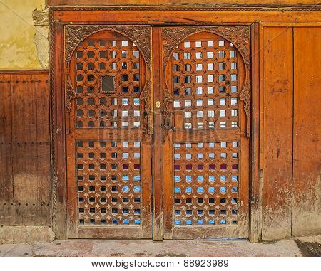 Cedar Wood Carved Moroccan Door