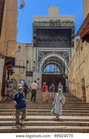 Street In The Medina Of Fes Morocco