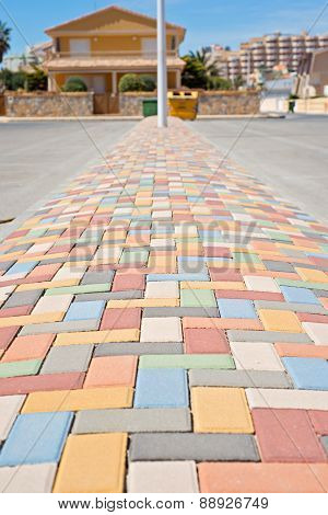 Multi colored vibrant paving stones