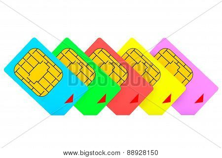 Mutlicolored Sim Cards
