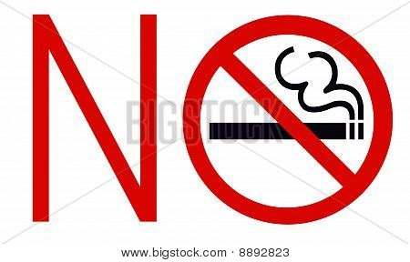 Symbol of No Smoking Zone Sign