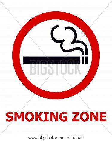 Señal de zona de fumadores