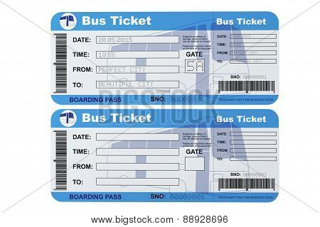 Bus Boarding Pass Tickets