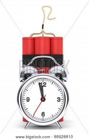 Dynamit With Alarm Clock Detonator