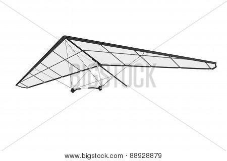 Extreme Closeup Hang Gliding