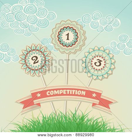 Competition invitation design, vector illustration