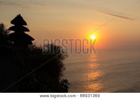 Sunset At Pura Uluwatu