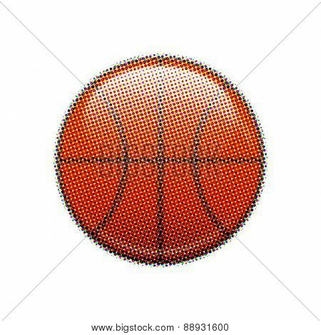 Basketball halftone