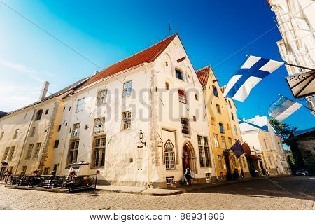 Streets And Old Part City Architecture Estonian Capital, Tallinn