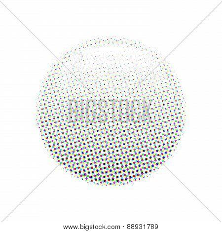 Halftone sphere