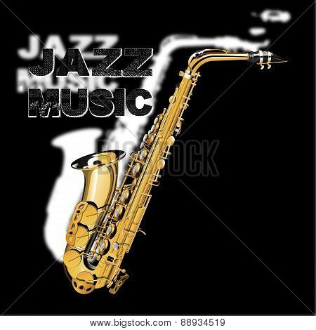 Jazz Music On A Black And White Background