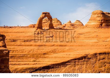 Famous Delicate Arch In Arches National Park