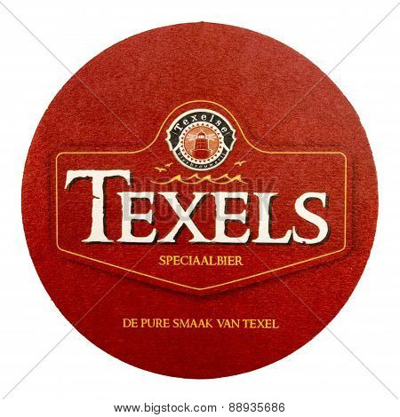 Netherlands - Delft - Circa February 2015: Texel Coaster Advertising The Pure Taste Of Texel.