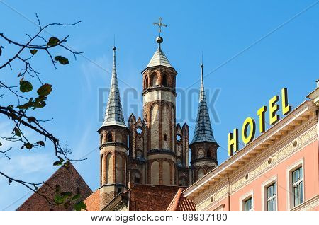 St. Mary's Church in Torun Poland.