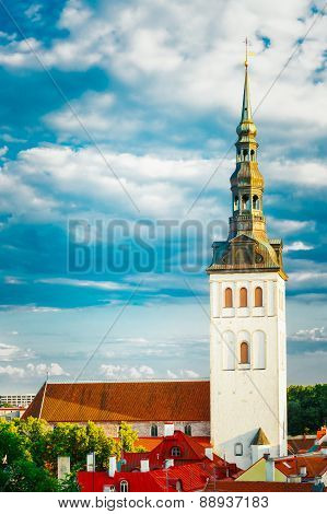 Medieval Former St. Nicholas Church In Tallinn, Estonia