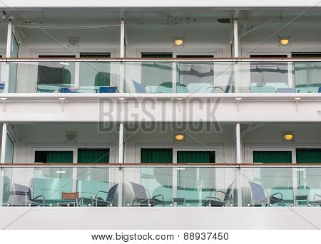 Six Verandas On A Cruise Ship