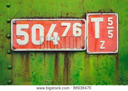 Vintage Locomotive Sign