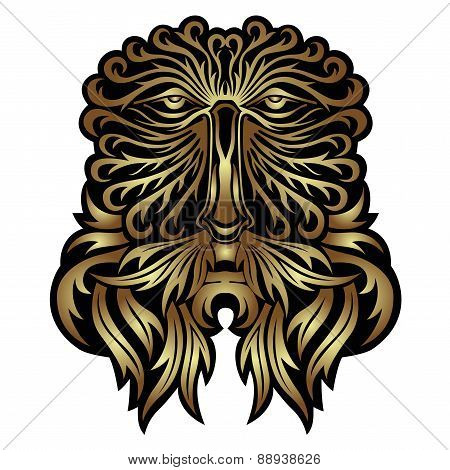 Face or mask of Forest Spirit