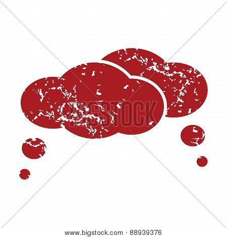 Red grunge dialog logo