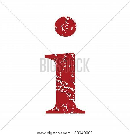 Red grunge info logo