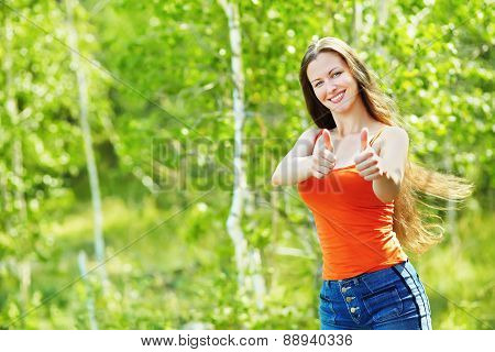 outdoor portrait of a beautiful woman