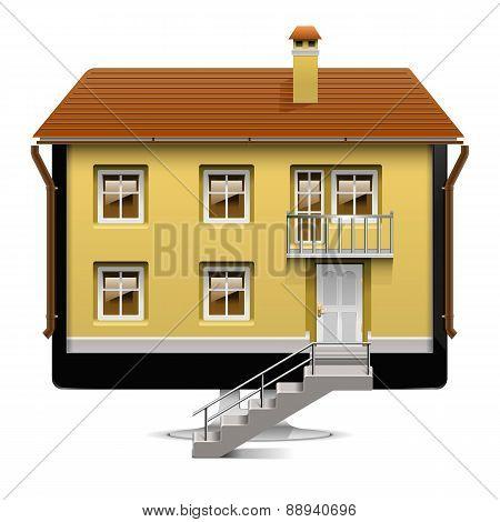 Vector Computer House Concept