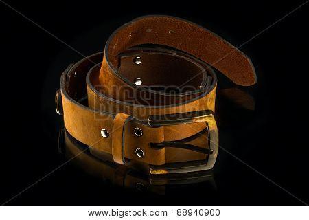 New Stylish Brown Leather Men's Belt