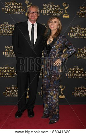 LOS ANGELES - FEB 24:  John Tesh, Lauren Koslow at the Daytime Emmy Creative Arts Awards 2015 at the Universal Hilton Hotel on April 24, 2015 in Los Angeles, CA