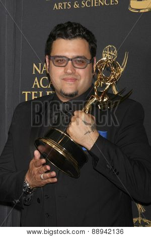 LOS ANGELES - FEB 24:  Gregori J Martin at the Daytime Emmy Creative Arts Awards 2015 at the Universal Hilton Hotel on April 24, 2015 in Los Angeles, CA