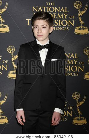 LOS ANGELES - FEB 24:  Mason Cook at the Daytime Emmy Creative Arts Awards 2015 at the Universal Hilton Hotel on April 24, 2015 in Los Angeles, CA