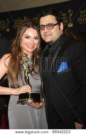 LOS ANGELES - FEB 24:  Lilly Melgar, Gregori J Martin at the Daytime Emmy Creative Arts Awards 2015 at the Universal Hilton Hotel on April 24, 2015 in Los Angeles, CA