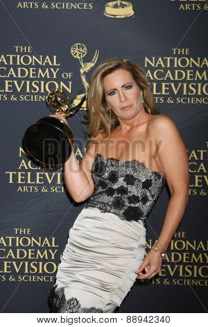 LOS ANGELES - FEB 24:  Martha Byrne at the Daytime Emmy Creative Arts Awards 2015 at the Universal Hilton Hotel on April 24, 2015 in Los Angeles, CA