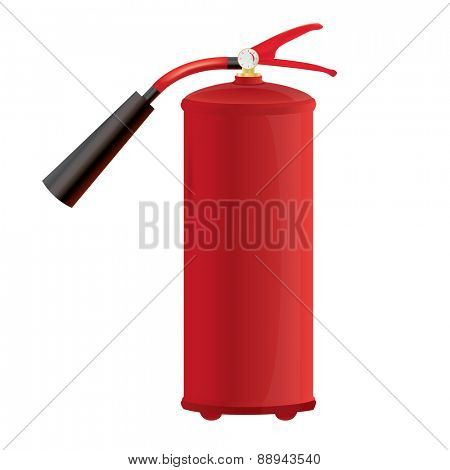Red Fire extinguisher Isolated illustration