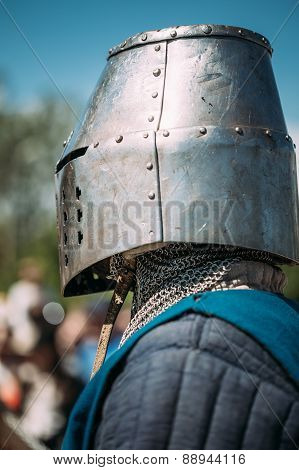 Knight participant of festival of medieval culture
