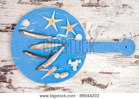 Delicious Fresh Sardines Fish.