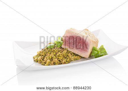 Juicy Tuna Steak.
