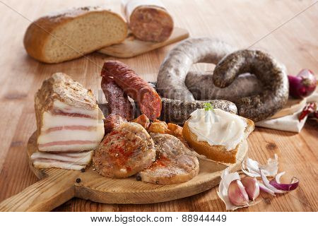 Meat Assortment.