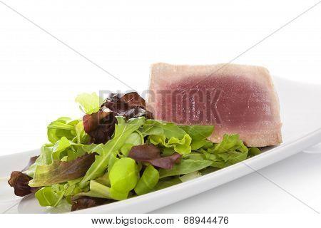 Tuna Steak With Salad.