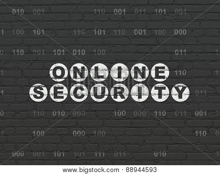 Privacy concept: Online Security on wall background