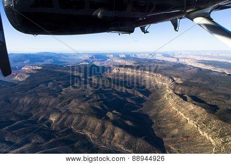 Aerial view of Colorado grand canyon, Arizona, usa