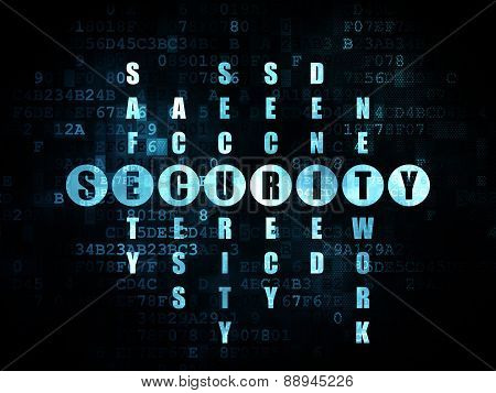 Security concept: word Security in solving Crossword Puzzle