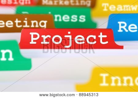 Project Concept Organization Office Text On Register In Business Documents
