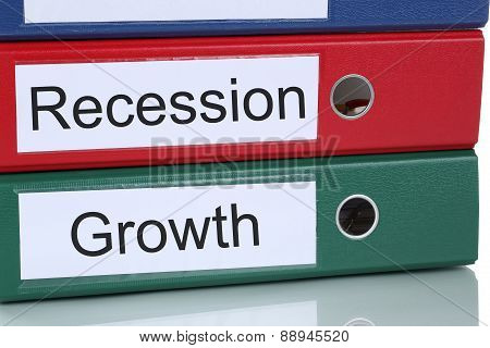 Growth And Recession In Office Company Business Concept