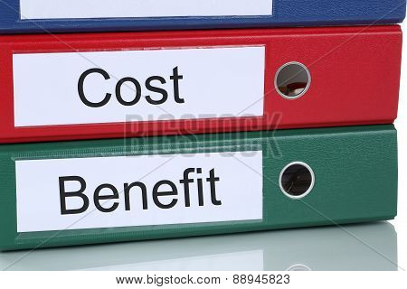 Cost Benefit Calculation Analysis Finances In Company Business Concept