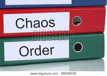 Chaos And Order Organisation In Office Business Concept