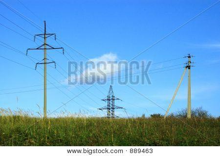 Three Electric Posts