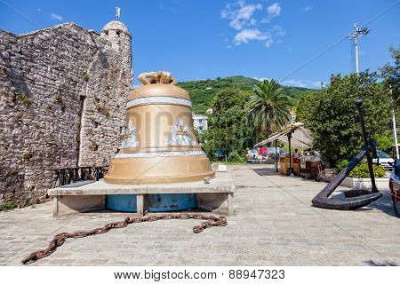 Huge Bell By The Budva Old Town