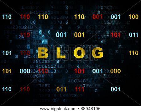 Web development concept: Blog on Digital background