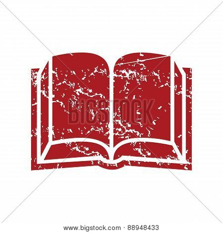 Red grunge book logo