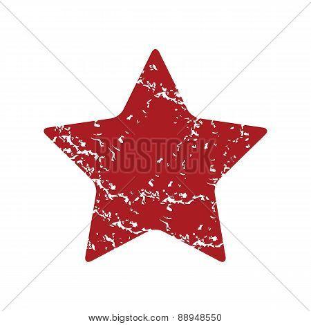 Red grunge star logo